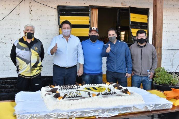 Gaido participó de los festejos del 105 cumpleaños del club Pacífico