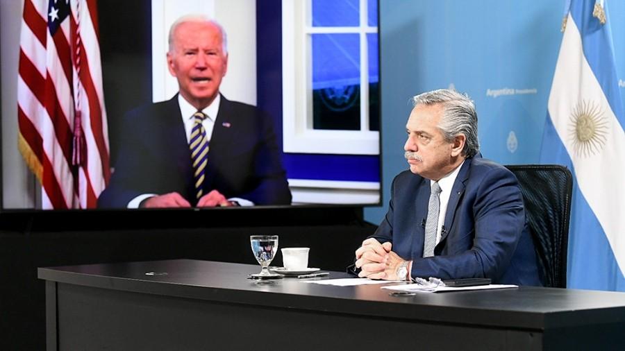 Fernández planteó ante Biden mejores condiciones de financiamiento para enfrentar crisis climática